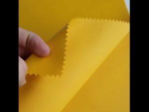 100 ٪ البوليستر مادة أكسفورد PVC النسيج ظهره التصفيح