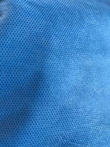 35GSM ، 45GSM SMS قماش غير منسوج الملابس الواقية ونسيج بدلة العزل