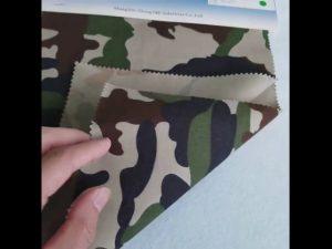 نمط التمويه نسيج القطن 8020 نسيج قطني طويل للزي العسكري