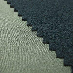 3 طبقات نسيج softshell غشاء تنفس TPU مع الترابط الصوف